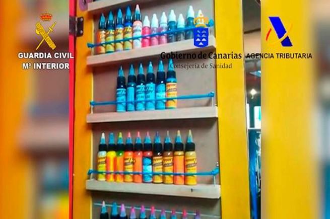 eternal ink, краска для тату, канарские острова, полицейская операция, испания, контрафактная продукция, преступление, поддельные товары