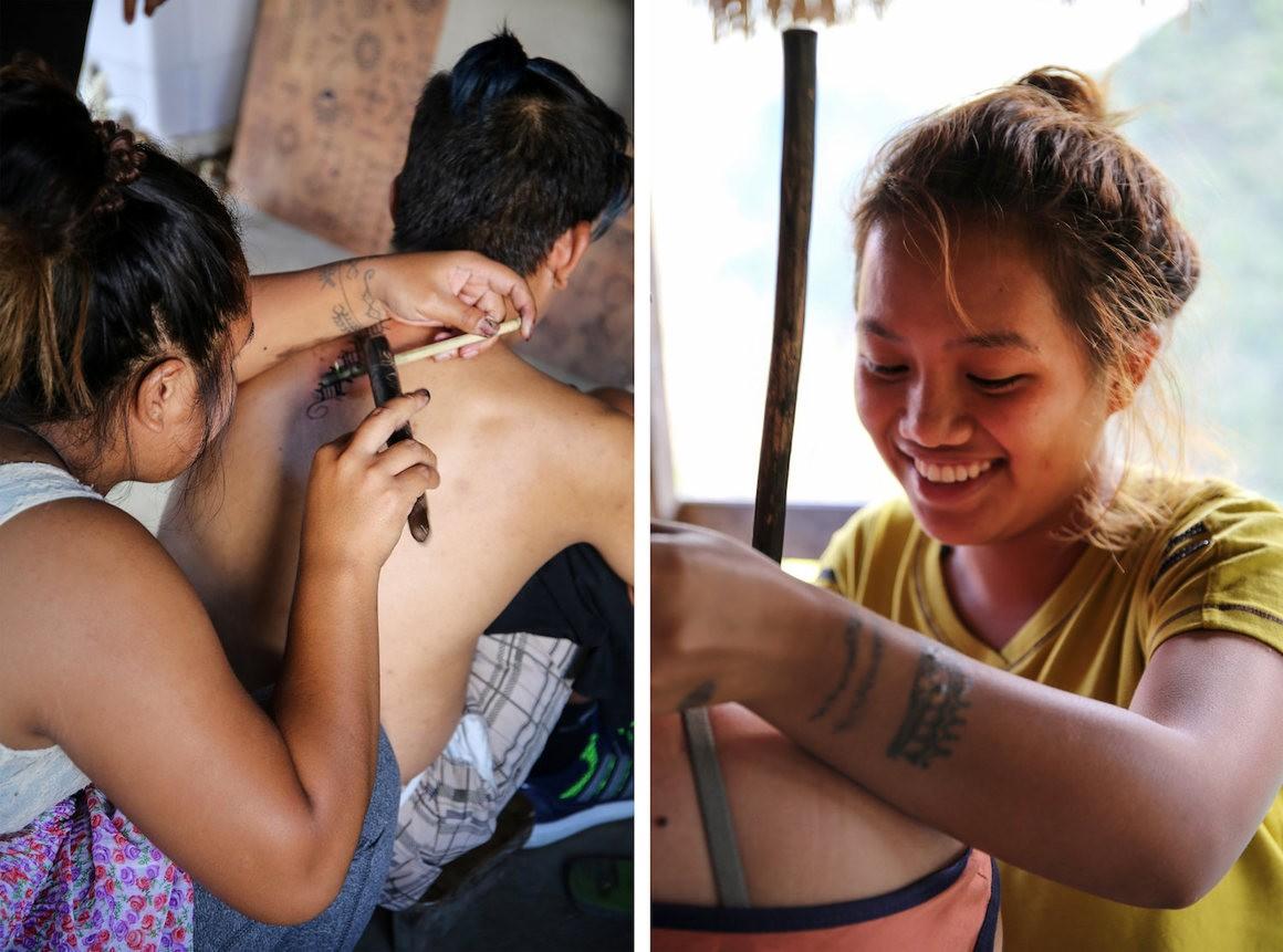 бускалан, калинга, филиппины, деревня, традиционная татуировка, племенная татуировка, мастер татуировки