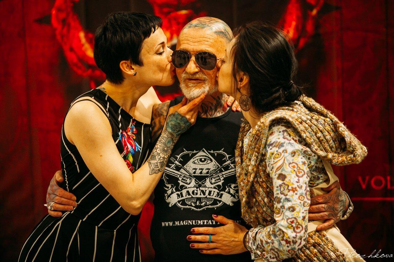 генрих эммануэль, тату-дедушка, татуировки в старости, лучшие татуировки, тату-конвенция, выставка татуировок