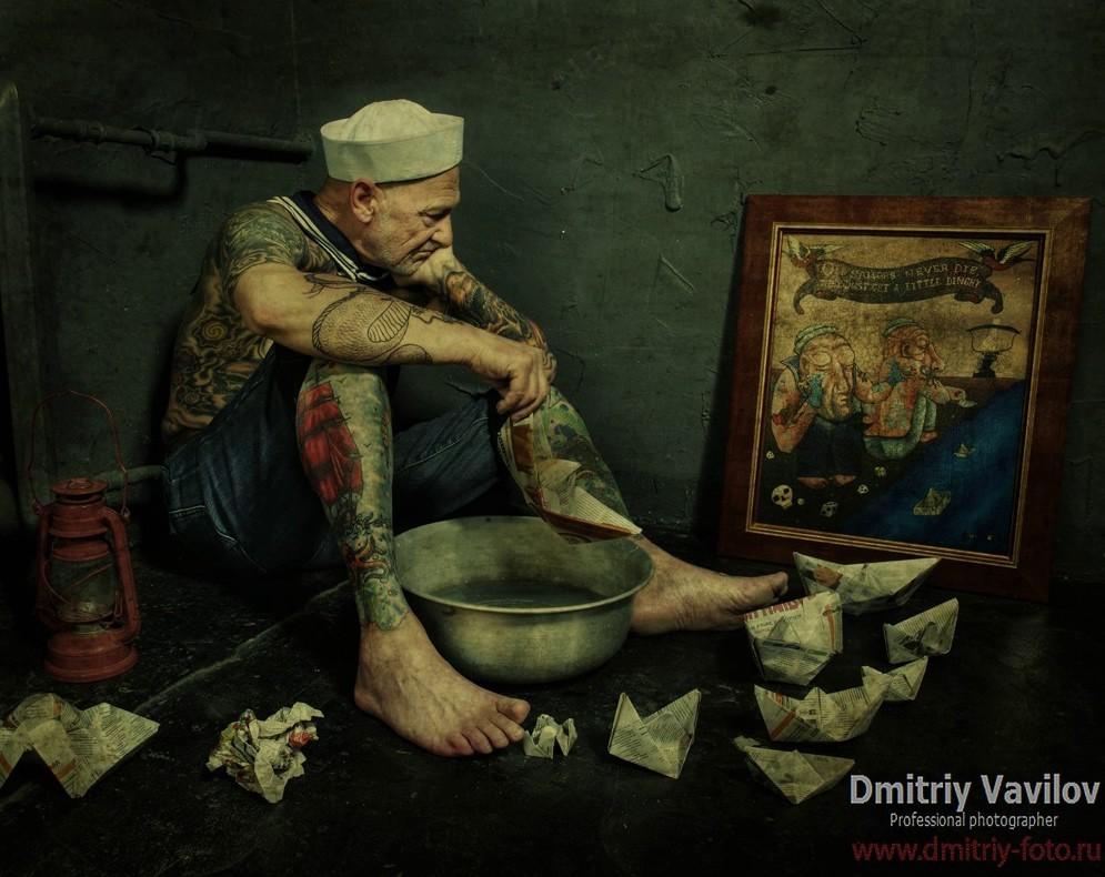 генрих эммануэль, тату-дедушка, татуировки в старости, лучшие татуировки, морские татуировки, старый моряк, дмитрий вавилов, алые паруса