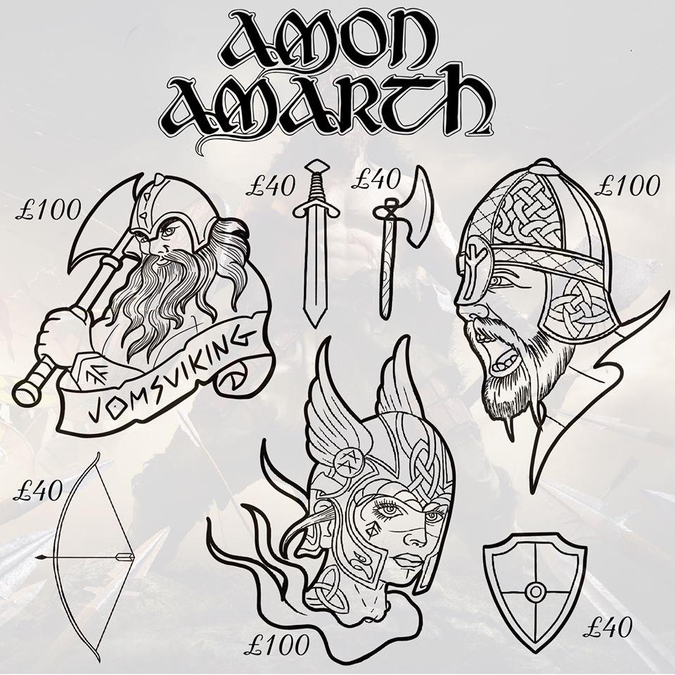 Old Sarum Tattoo, татуировки викинги, северные татуировки, эскизы татуировок, Amon Amarth, языческие татуировки