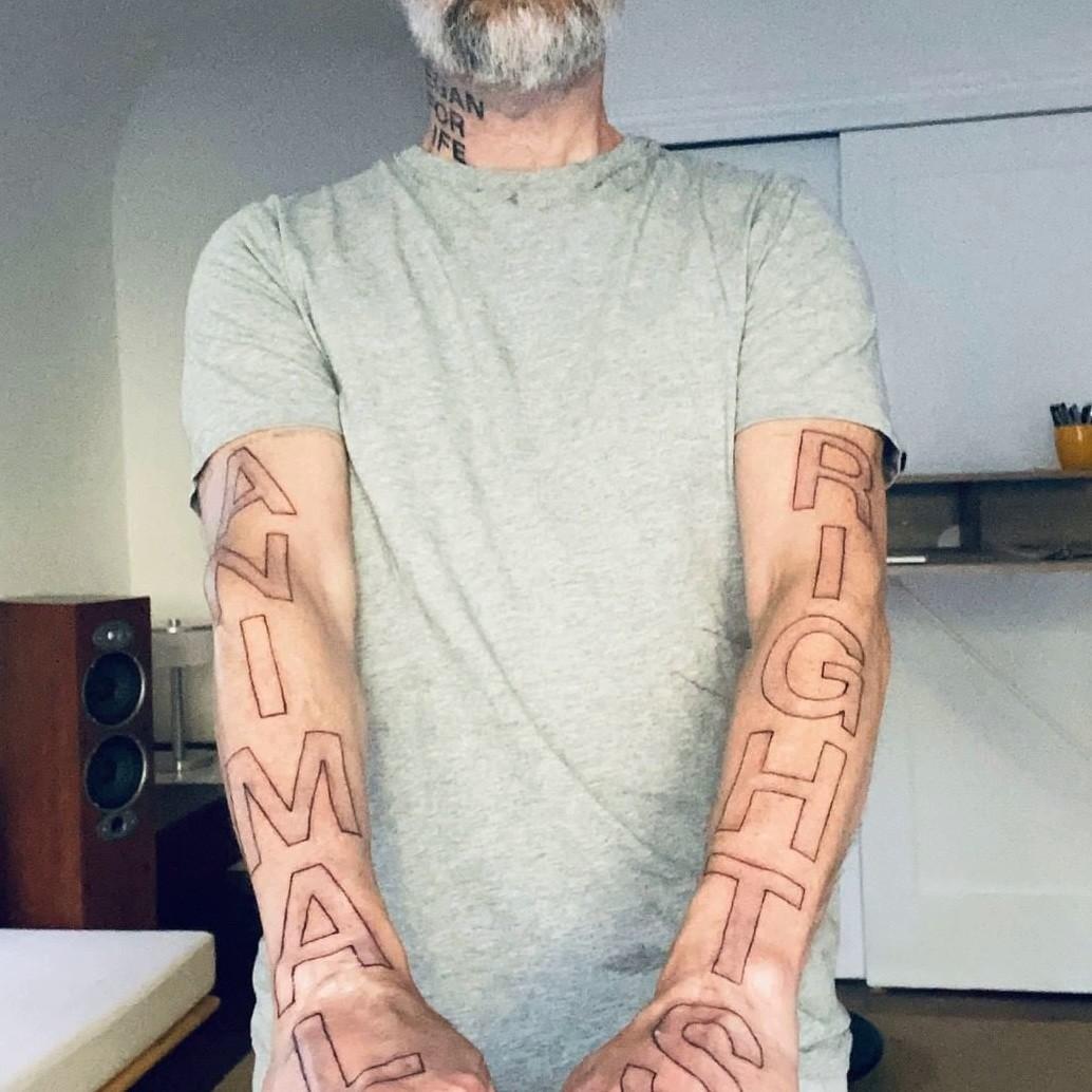 Моби, Moby, Animal Rights, вегетарианство, права животных, веганские татуировки, веган, Земляне