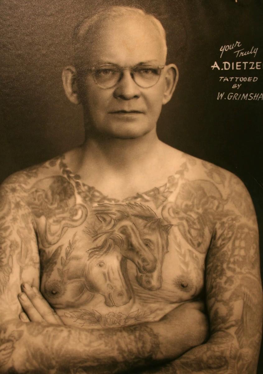 амунд дитцель, amund dietzel, американская татуировка, история татуировки, старая школа татуировки, татуировки олдскул, чикаго, милуоки
