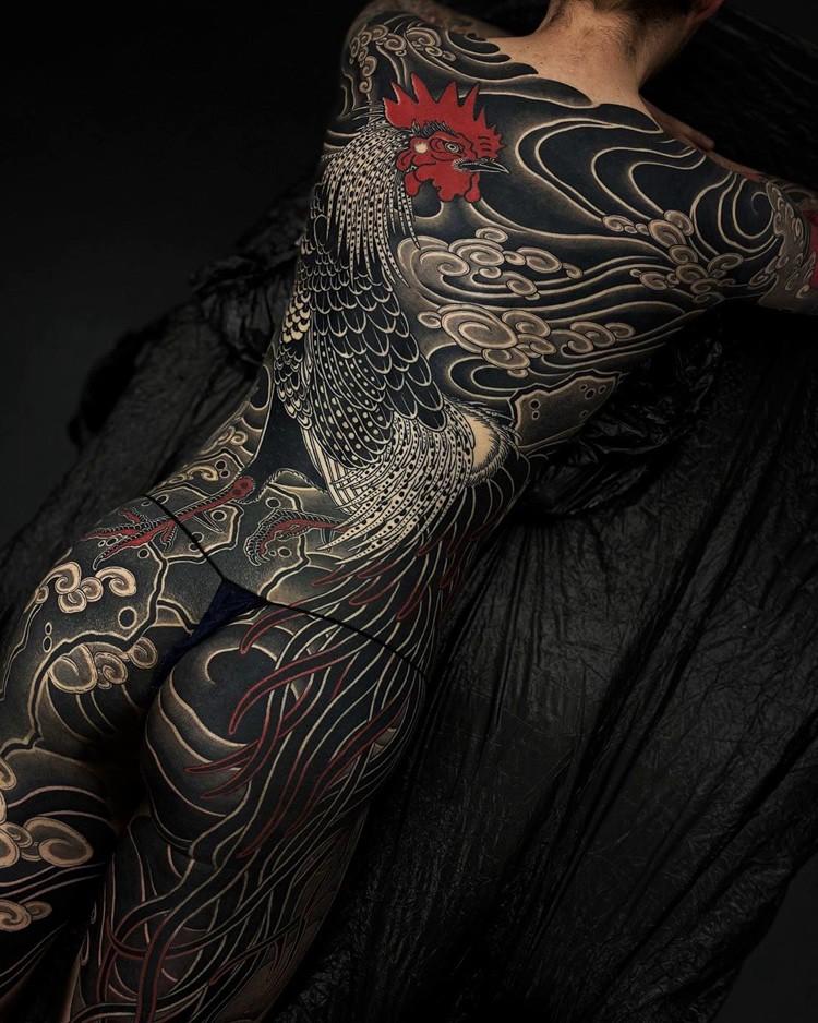 новый стиль японской татуировки от Gakkin