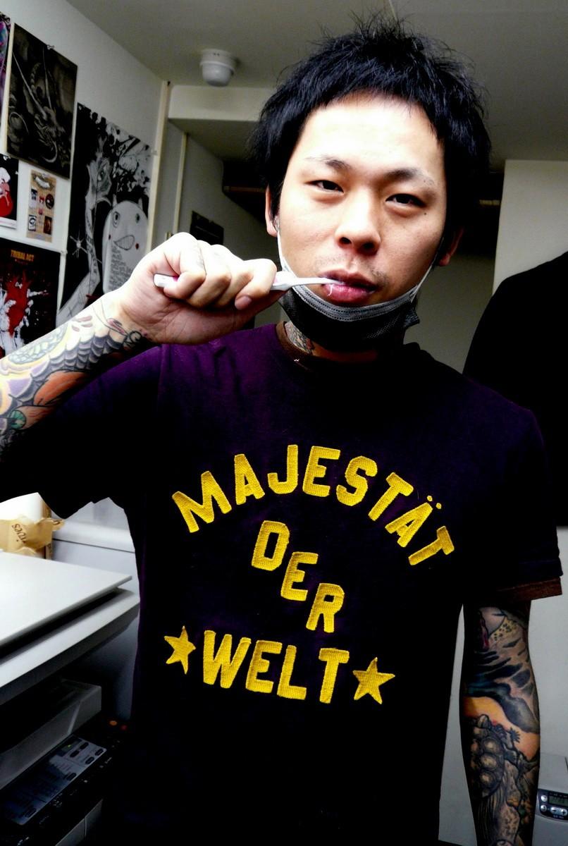 мастер японской татуировки Gakkin