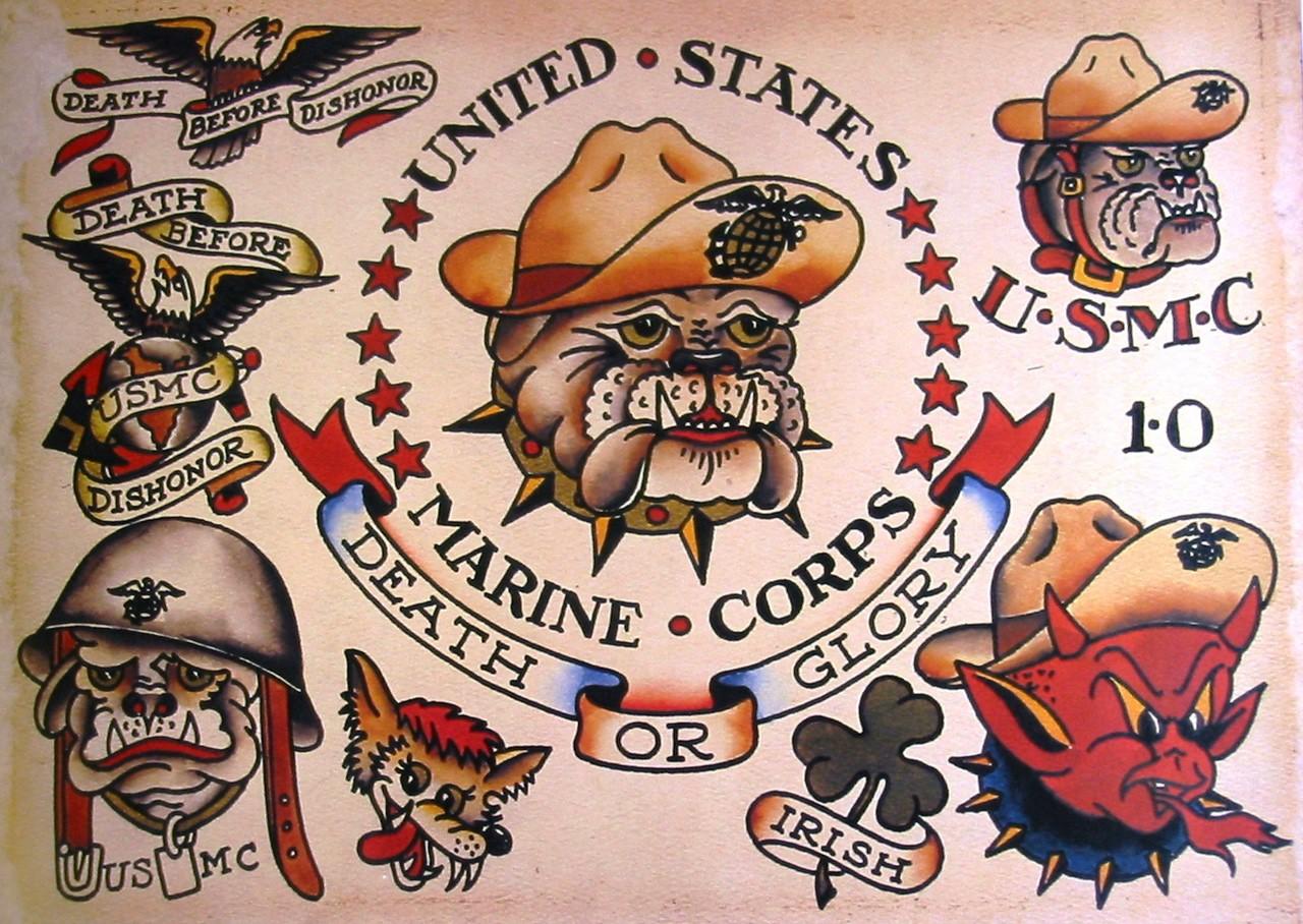 Военные и морские татуировки от Сейлор Джерри