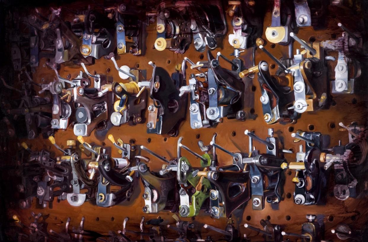 Шон Барбер (Shawn Barber) и его живопись, тату-машинки