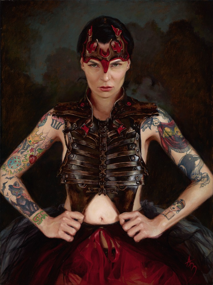 Александра Манукян - фигуративная живопись в стиле стим-панк