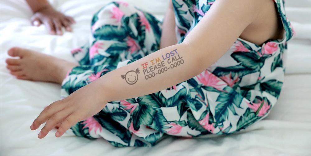 временные татуировки на детях, сделанные принтером Prinker