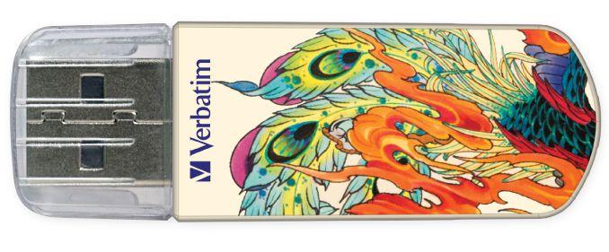 Tattoo Edition - флешка Varbatim (феникс)