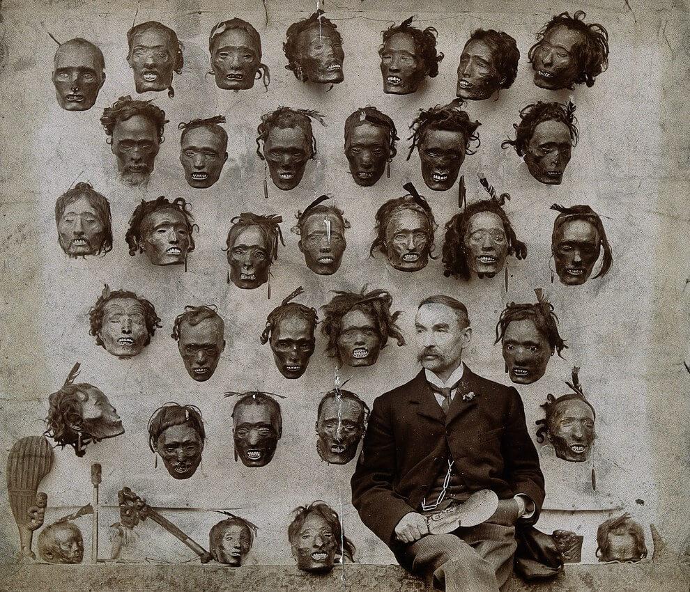 Горацио Гордон Робли и его коллекция сушеных голов мокомокаи