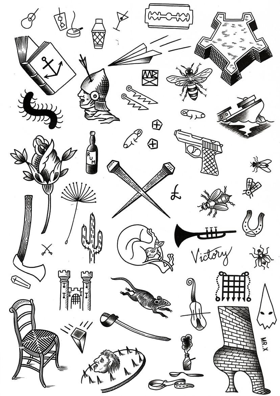 Дункан Икс, тюремные татуировки, черно-белая графика