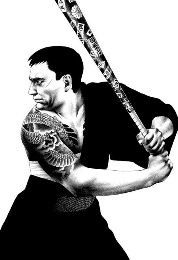 Шохей Отомо - графика шариковой ручкой