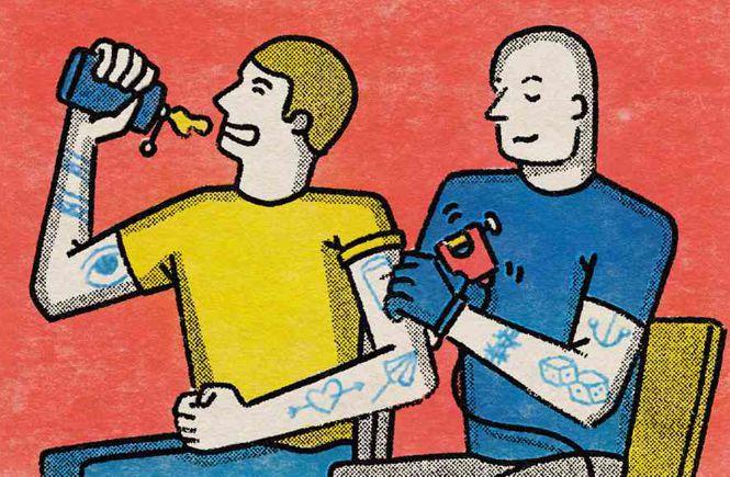 пьяные делают татуировки