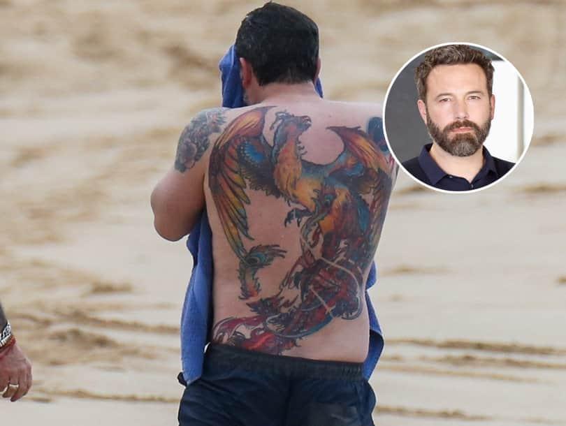 татуировка Бена Аффлека птица Феникс