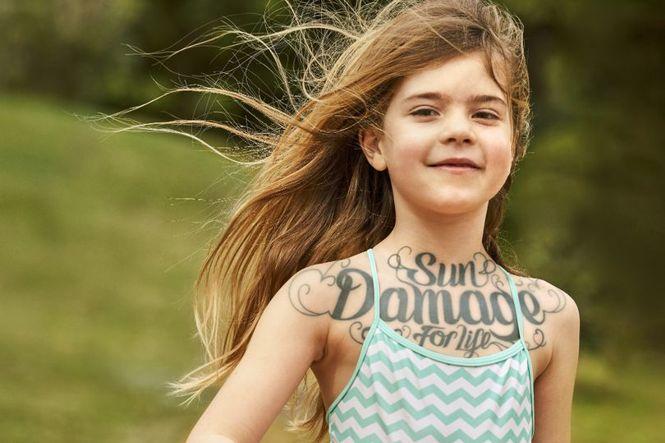 дети с татуировками, солнцезащитный крем, Boots Soltan