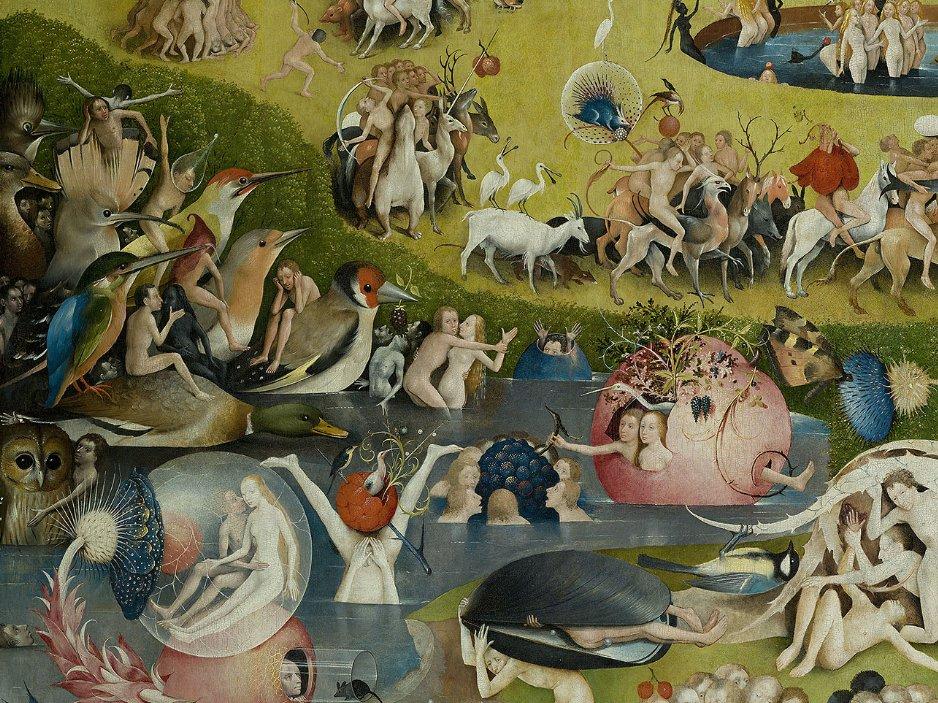 Иероним Босх, Сад земных наслаждений, центральная часть триптиха
