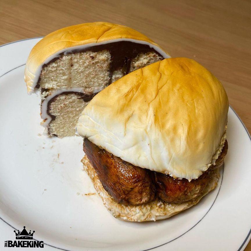 бургер с сосисками - дизайнерские торты от бывшего татуировщика по имени Бен Каллен (Ben Cullen)