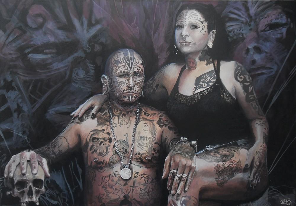 тату-живопись от художника по имени Леандро Клаппут