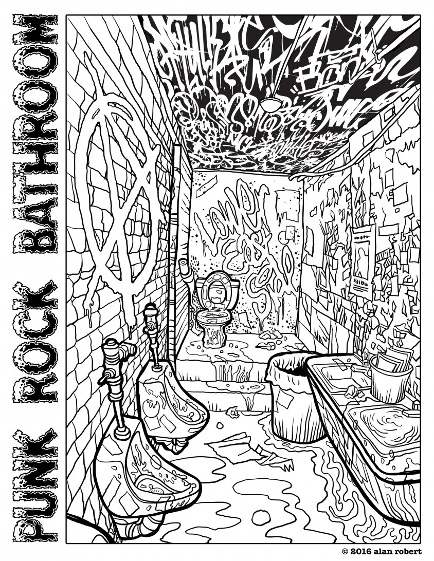 панковский туалет в клубе CBGB