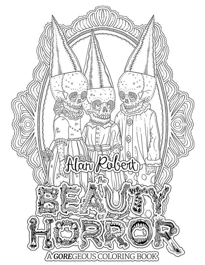 The Beauty of Horror, раскраски для взрослых, Life of Agony, ужастики, Алан Роберт