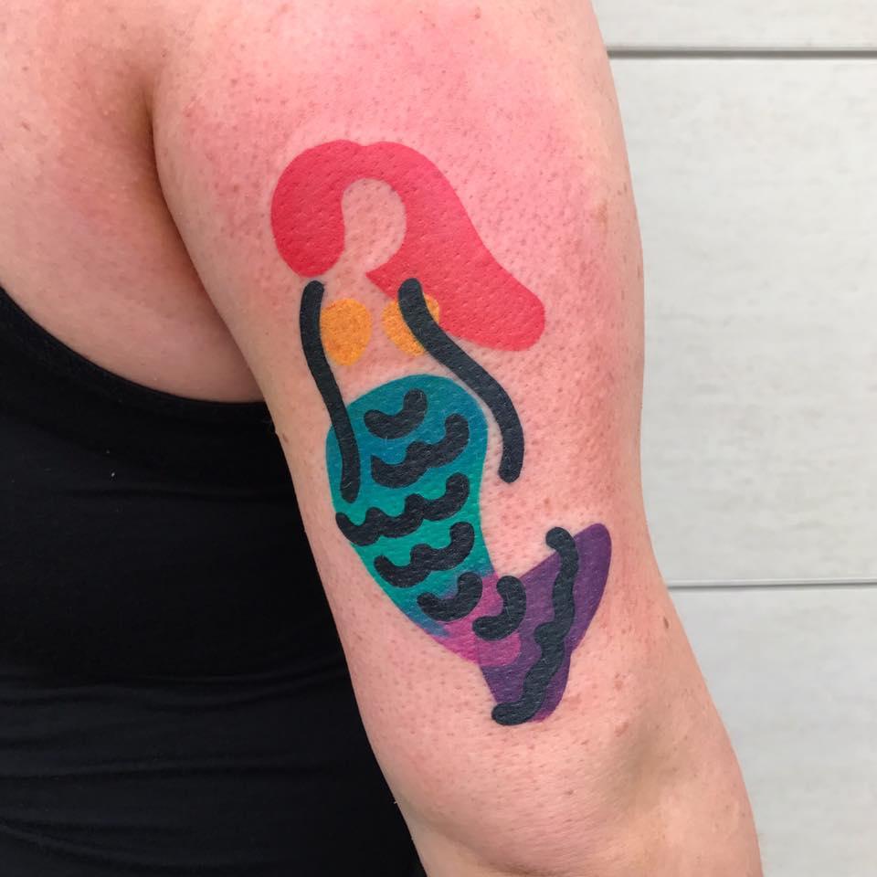 русалка - татуировка destrutturato от Маттия Мамбо