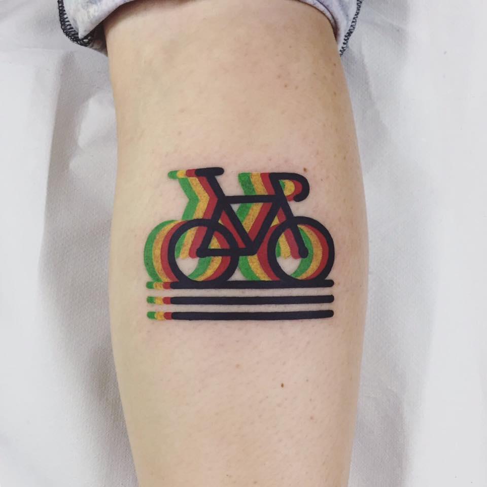 велосипед - татуировка destrutturato от Маттия Мамбо