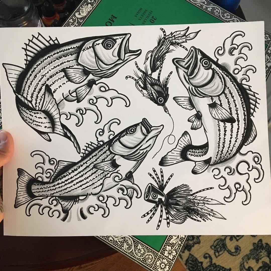 эскизы татуировок рыбы