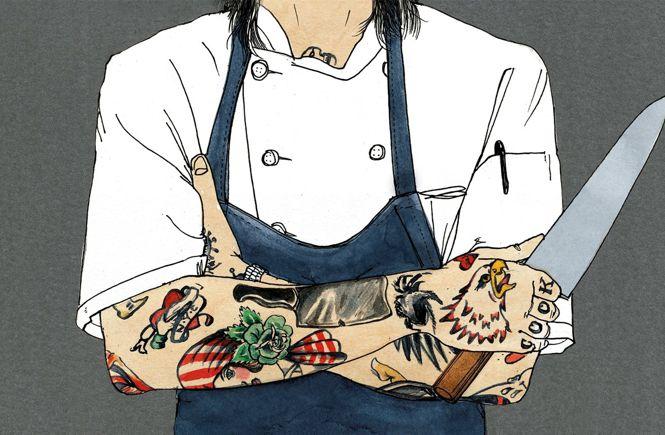 повар с татуировками
