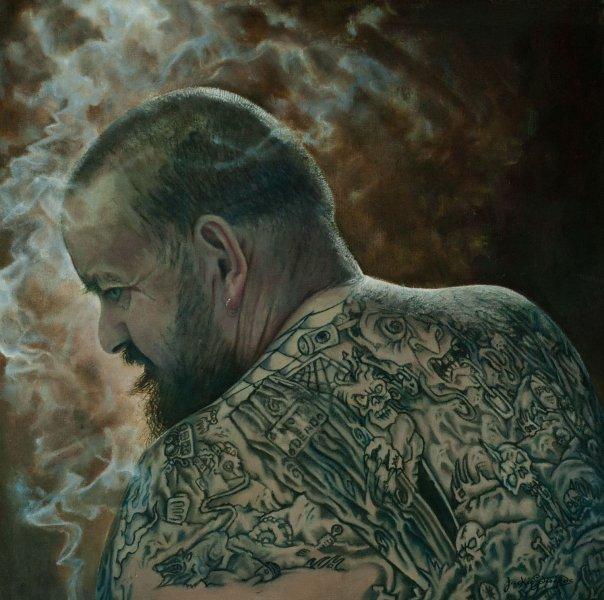 Портрет из серии «Тату-Табу» ирландской художницы Джеки Эдвардс