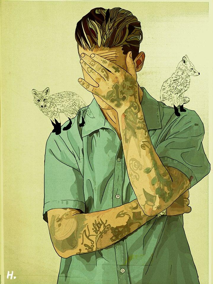 иллюстрации французского художника по имени Graphik H