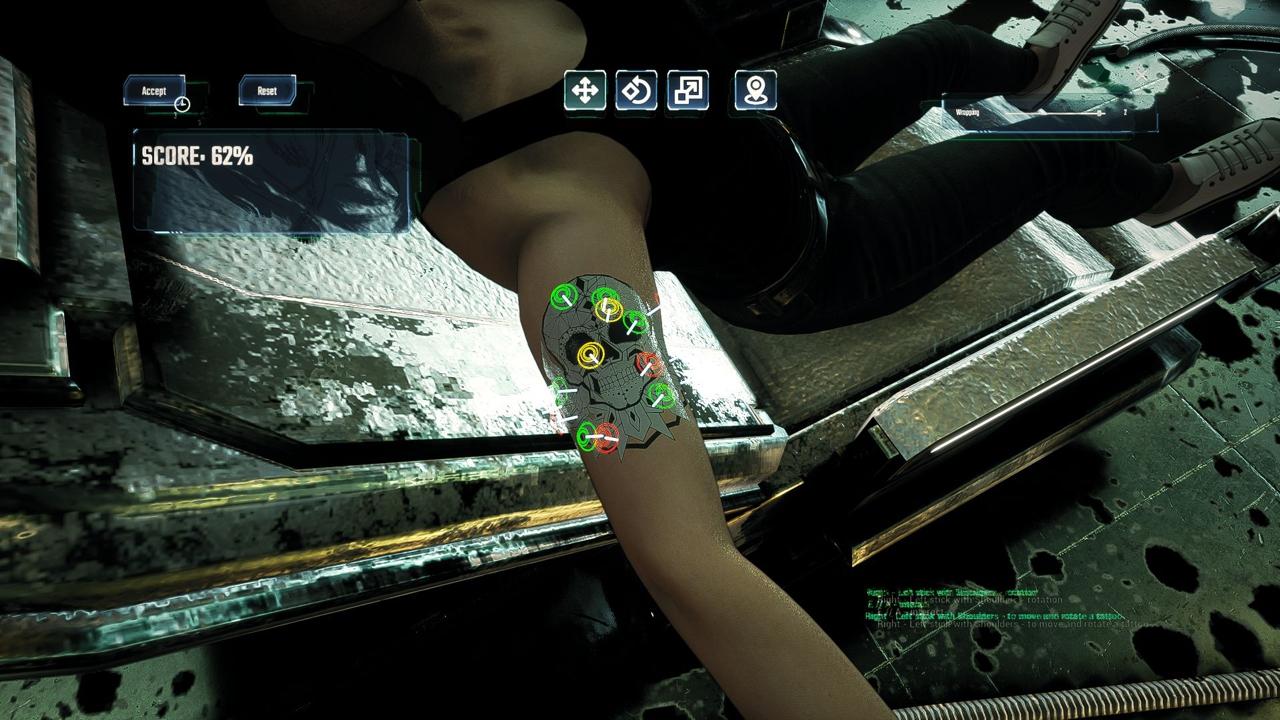 татуировки будущего в игре Tattoo Punk